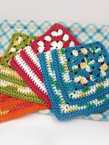 Free Heart Dishcloth Crochet Pattern Free Crochet Spring Flower