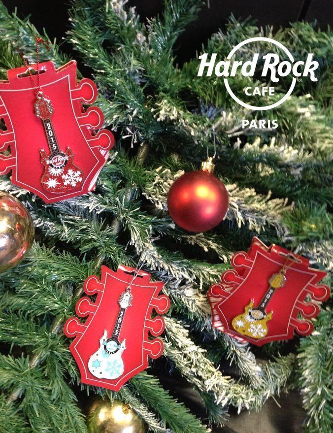 Decorations Guitares Pour Votre Sapin De Noel Hard Rock Rock Shops Christmas 2015