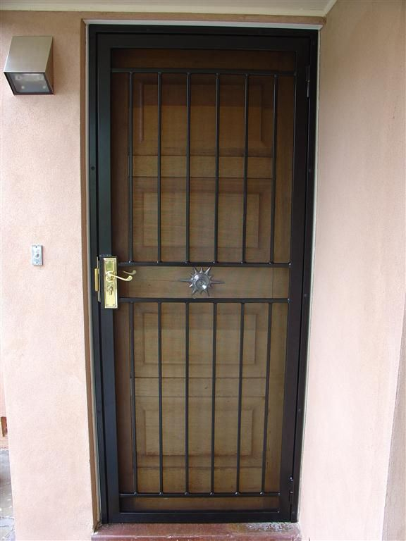 wrought iron security door - Google Search | Wrought iron ...