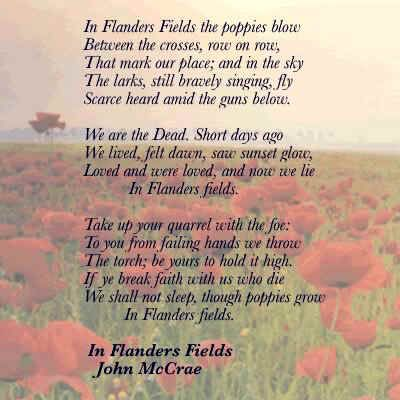 Flanders Field Poem | Posted by Nathan at 11/11/2011 02:43:00 PM ...