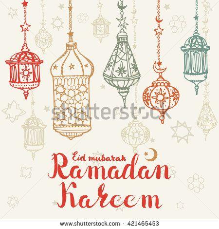 Ramadan kareem greeting cardaditional doodle lantern handwriting ramadan kareem greeting cardaditional doodle lantern handwriting lrtteringholy month of muslim community m4hsunfo