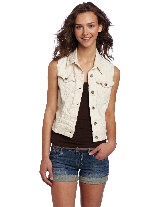 Levi's Women's Classic Trucker Vest - $68  Classic trucker #vest, classic trucker vest #style details