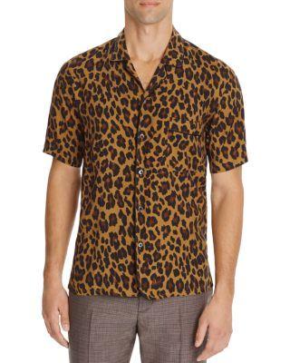 f98aa30cbca8 MARC JACOBS Leopard Print Slim Fit Button Down Shirt. #marcjacobs #cloth # shirt