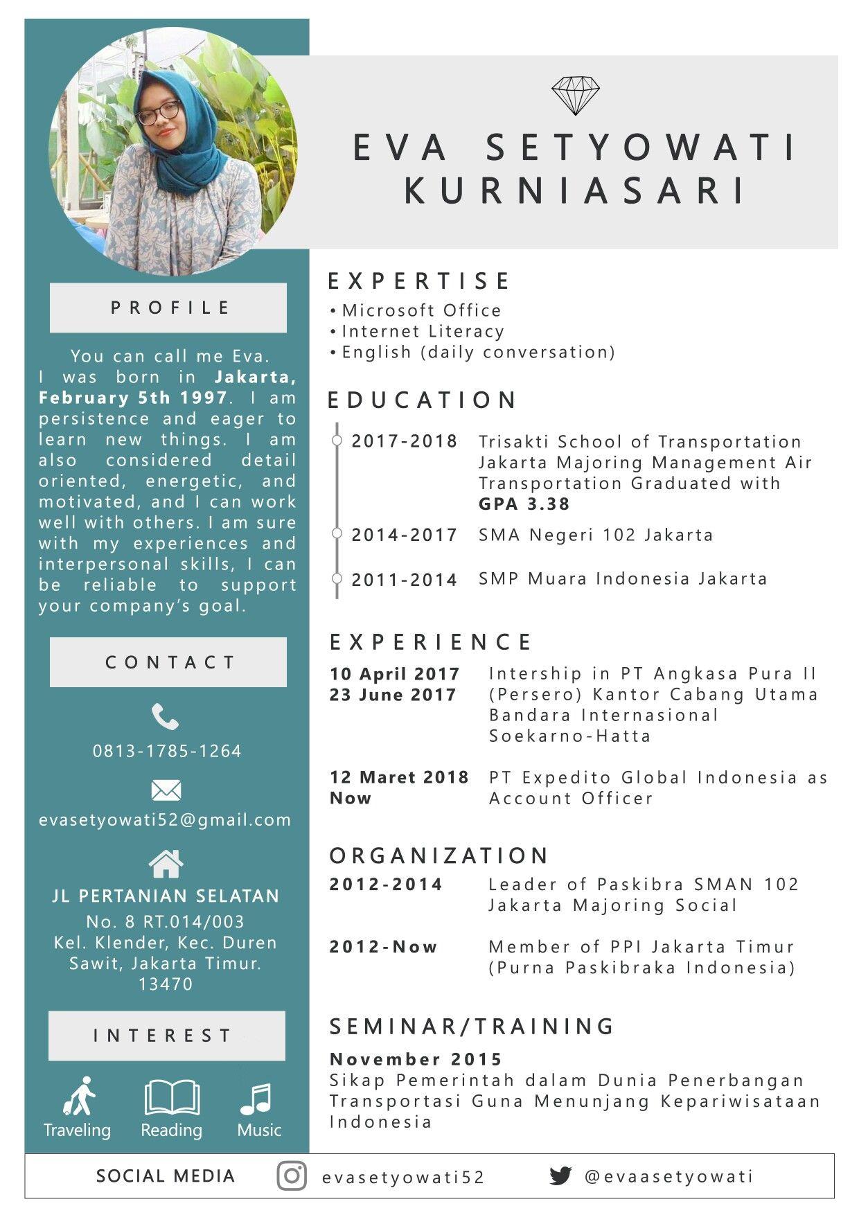 Eva Setyowati Kurniasari Curriculumvitae Daftarriwayathidup Cv Photoshop