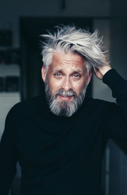 48+ best Ideas hair grey men silver #hair | Silver hair, Silver hair men, Mens hairstyles