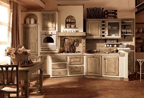 cucina legno grezzo - Arredamento Shabby | Cucina shabby chic ...