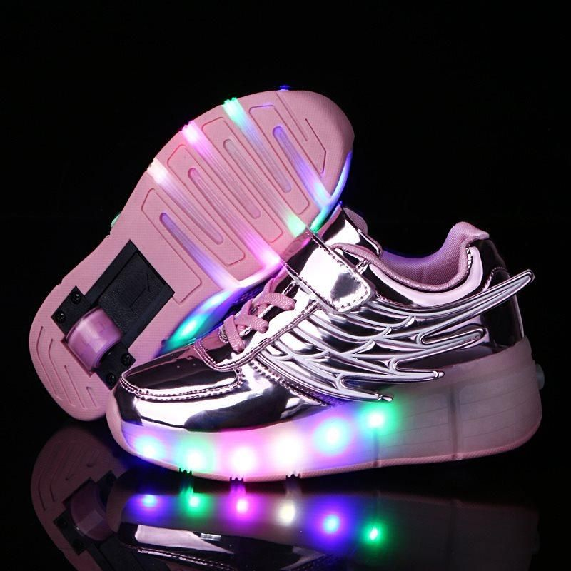 Kids Glowing Sneakers Sneakers with wheels Led Light up Roller Skates Sport Luminous  Lighted Shoes for Kids Boys tenis infantil b6488900c1b0