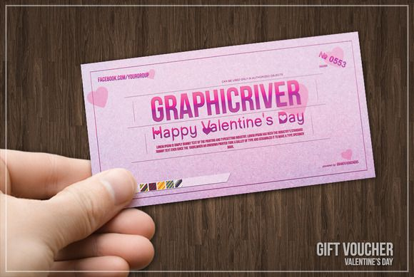 Valentineu0027s day gift voucher by Tzochko on Creative Market GIFT - coupon layouts