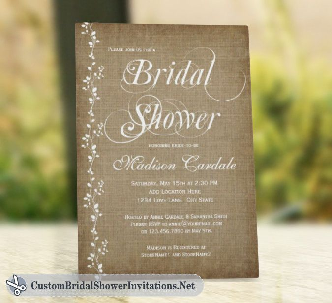 bridal shower invitaions rustic bridal shower invitations simply resourceful - Rustic Wedding Shower Invitations