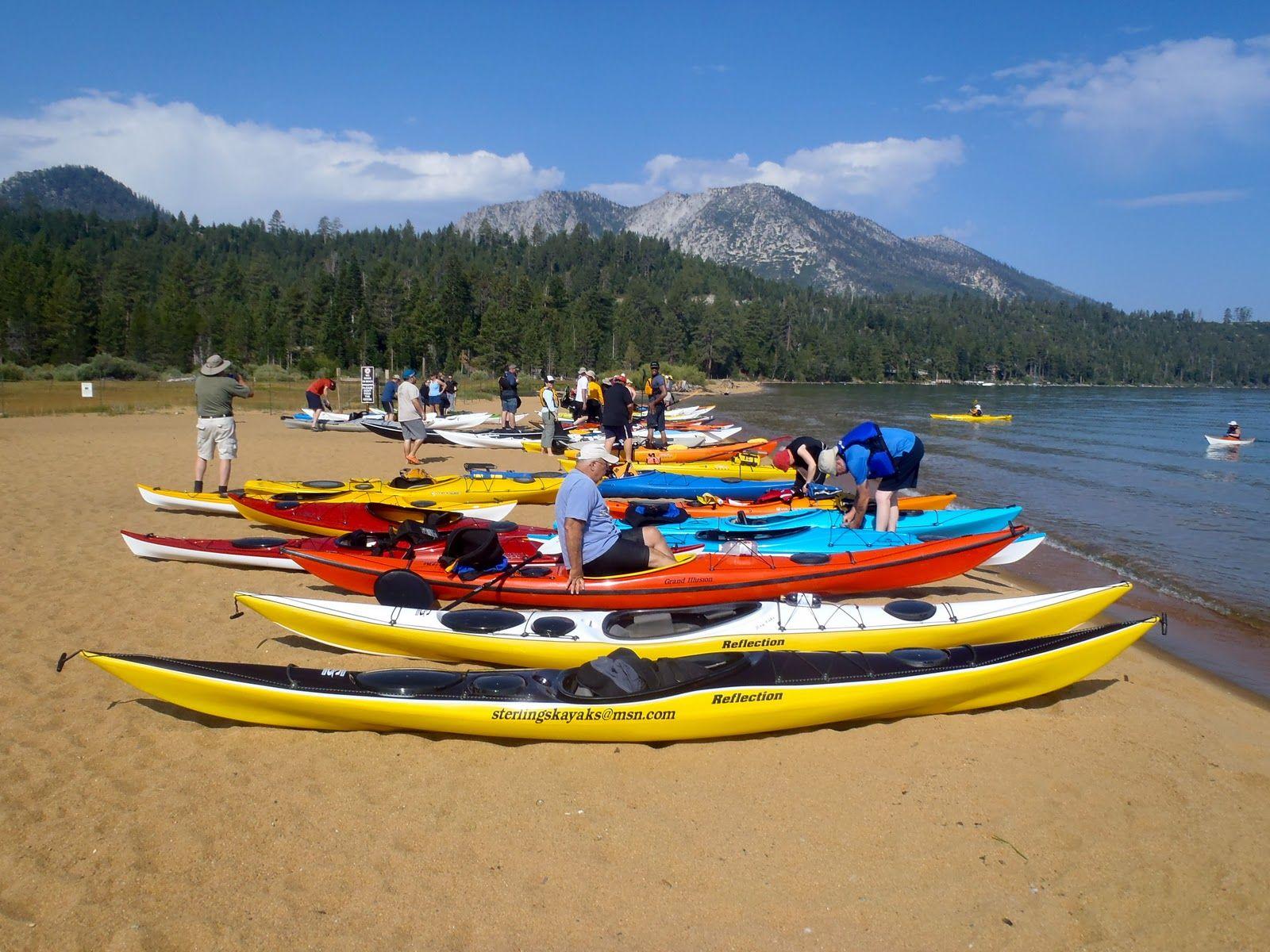 Kayaking at lake tahoe in the summer lake tahoe california