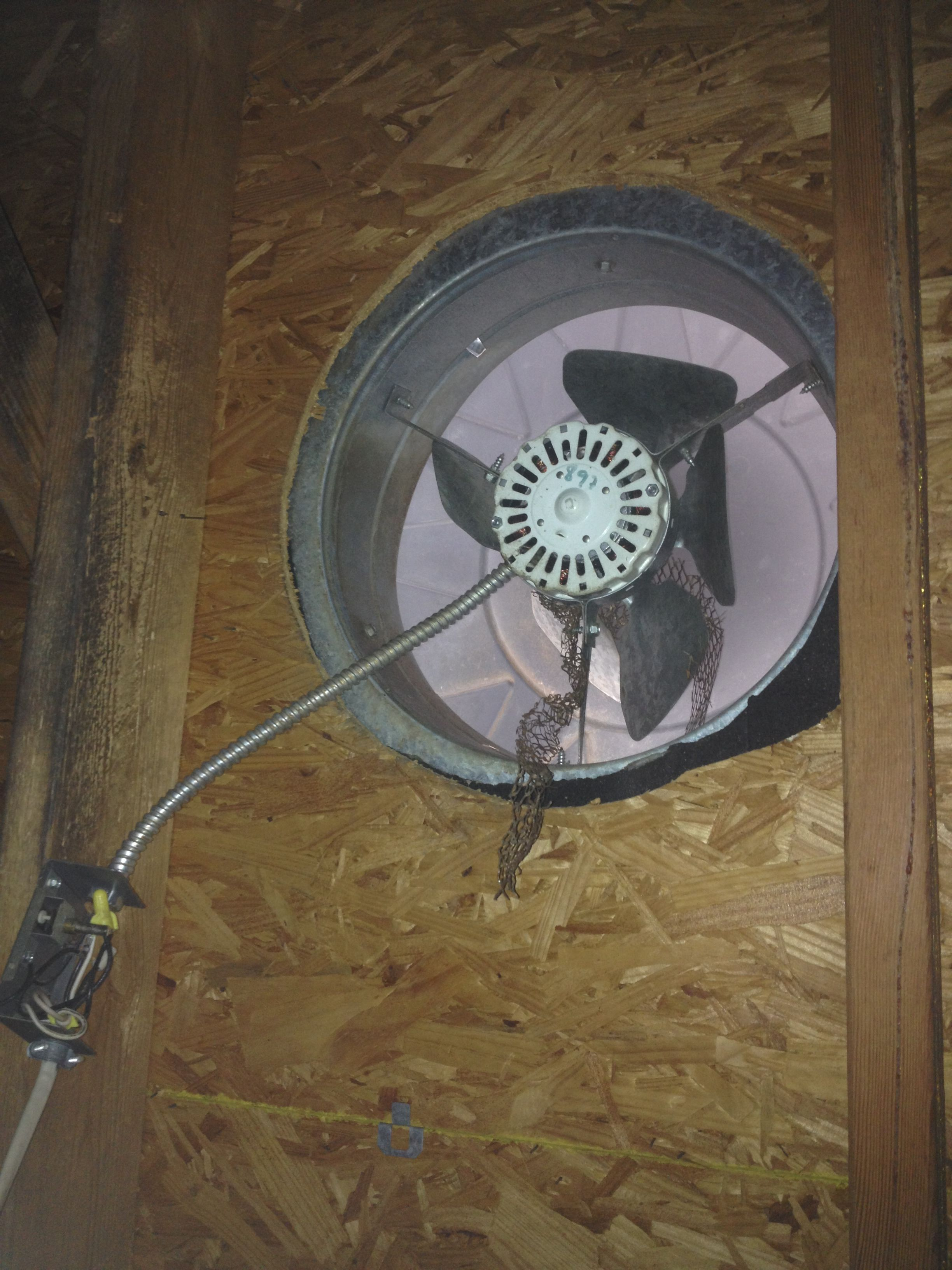 attic exhaust fan attic ventilation