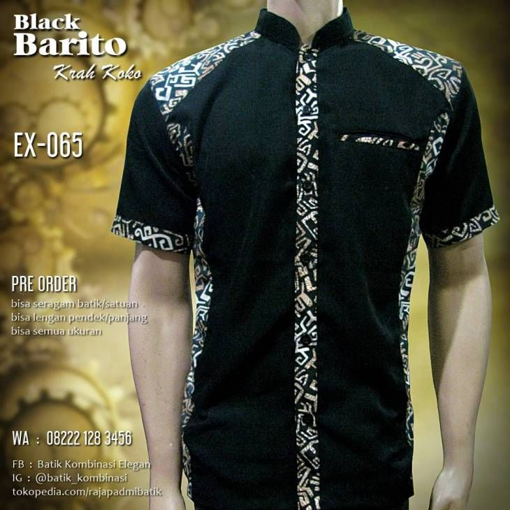 Seragam Batik Krah Koko 369db05acd