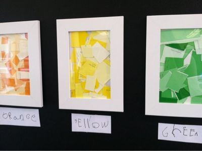 life in projects: Paint Chip Mosaics