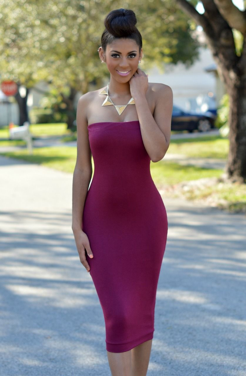 mandisa burgundy two way tube dress | dresses | pinterest | tube