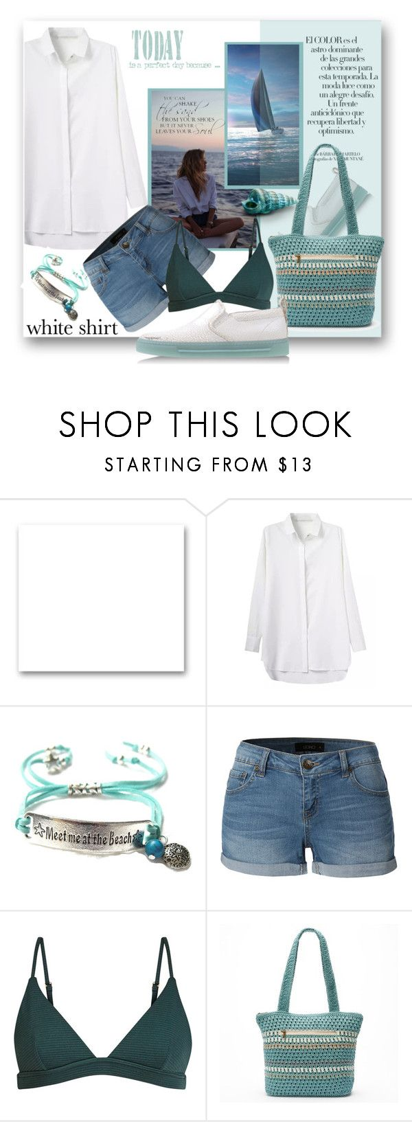 """White....."" by samketina ❤ liked on Polyvore featuring St. John, Arco, LE3NO, Croft & Barrow and WardrobeStaples"