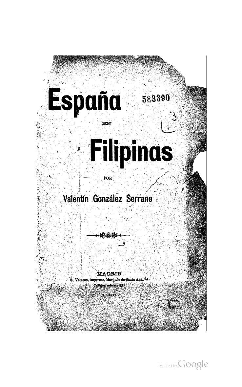 espana en filipinas serrano valentin gonzalez httpquodlibumich