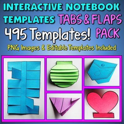 Interactive Notebook Templates Tabs Spanish Class Cuadernos