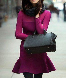 peplum hem dress DKNY