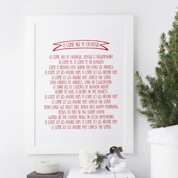 O Come All Ye Faithful Christmas Carol Lyrics by SnowAndCompany | Christmas carols lyrics ...