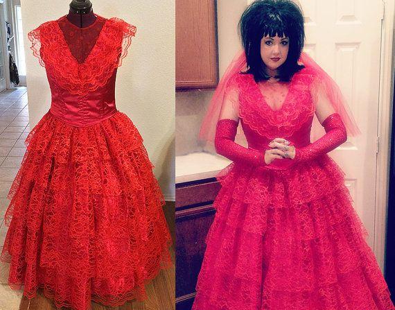 Lydia Red Wedding Dress Beetlejuice Inspired Cosplay Gown Custom ...