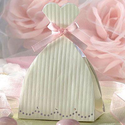 Wedding Dress Favor Boxes 12ct