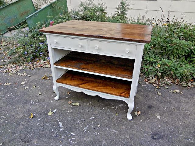 Heir and Space: Antique Dresser Turned Kitchen Island