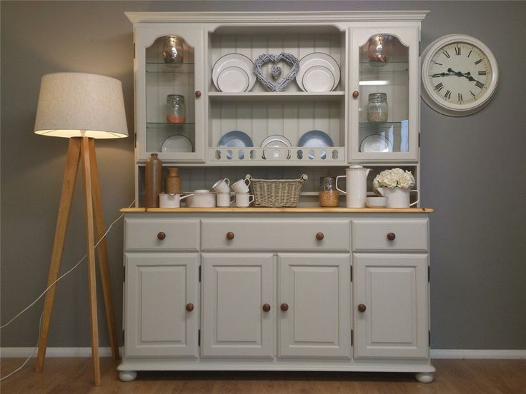 Ducal Solid Pine Shabby Chic Painted Welsh Dresser Kitchen Furniture L