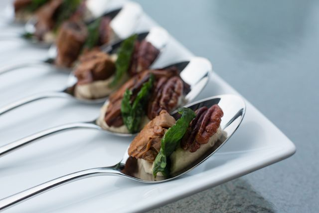 Hummus, Smoked Oyster & Honey Toasted Pecan Amuse-Bouche Recipe ...
