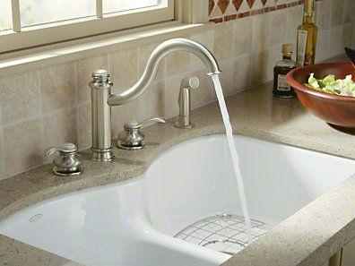 Kohler Langlade Smart Divide Double Basin Cast Iron Sink Cast