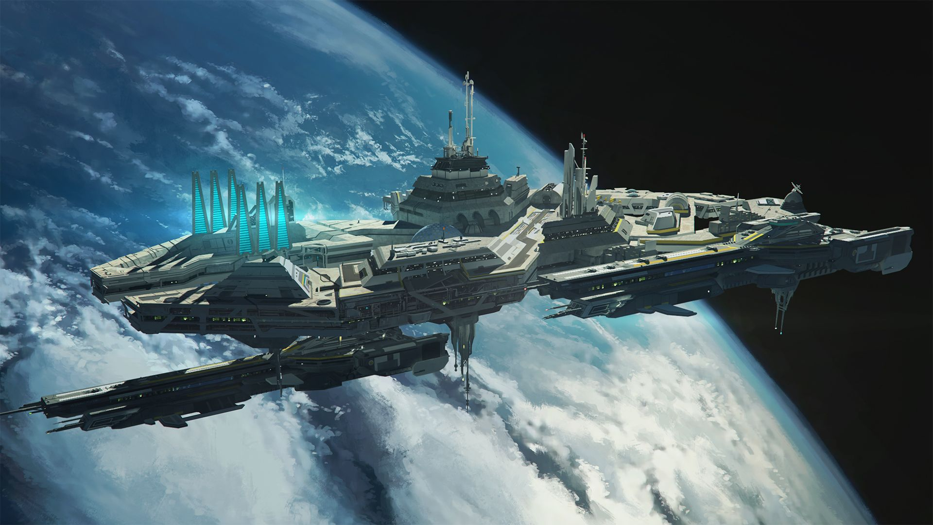 space station by franklinchandeviantartcom on