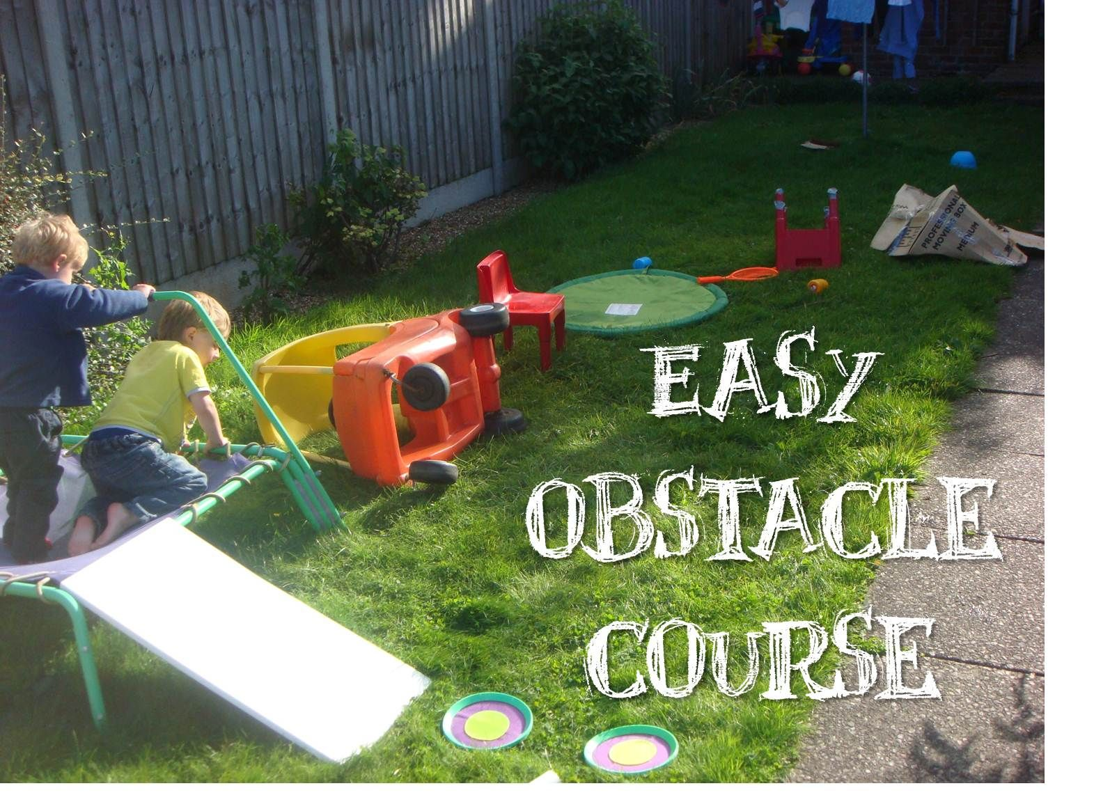 Easy Obstacle Course | Kids obstacle course, Toddler ...