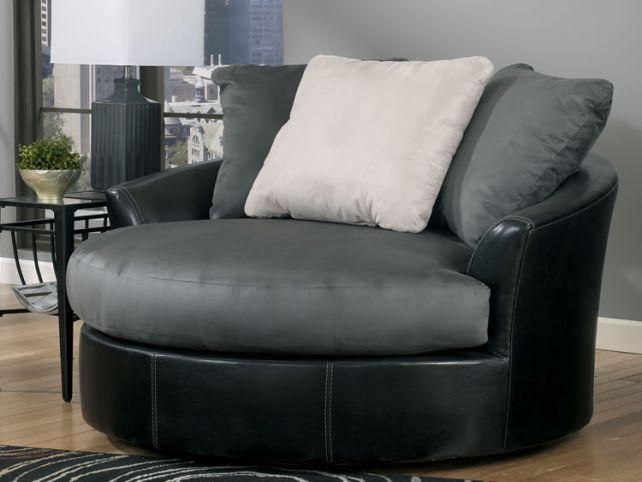 Oversized Round Swivel Chair Black Round Swivel Chair Swivel Chair Living Room Slipcovers For Chairs