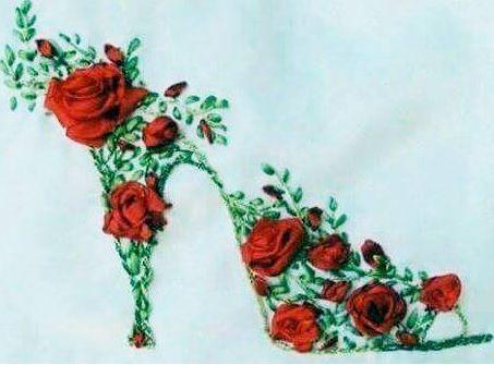 Ruusuinen korkokenkä.
