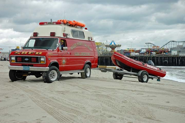 Fire Dept. water rescue jacket | Fire Engines Photos - Seaside Heights Fire Department Water Rescue Van
