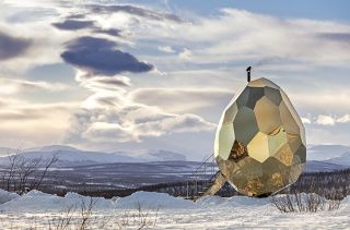 Sweat It Out in Sweden's Golden Sauna Egg | And Eat Some Crepes While You're At It
