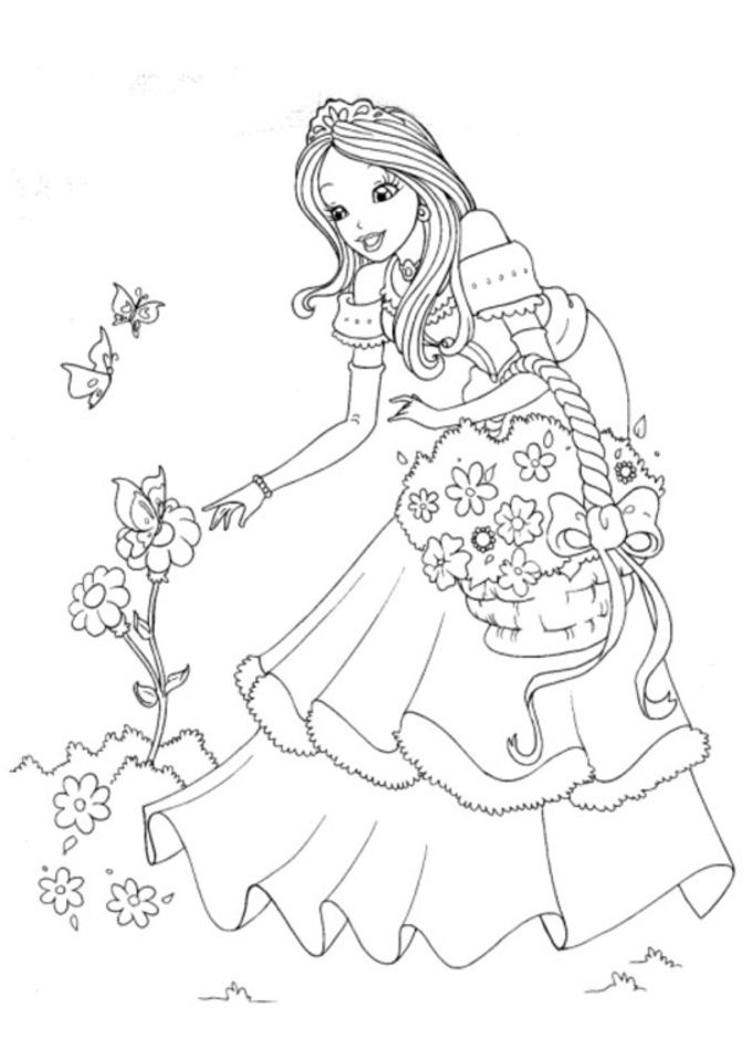 Coloriage Princesse à colorier - Dessin à imprimer | Malvorlage prinzessin, Disney prinzessin ...