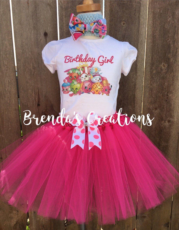 Shopkins Birthday Tutu Outfit Birthday Dress Up Custom Any Name Any Age added