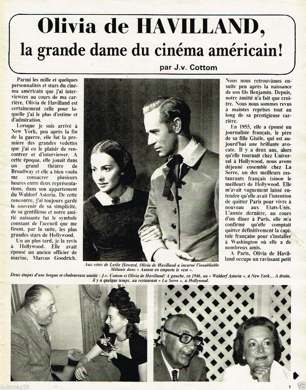 Coupure DE Presse Clipping 1981 5 Pages Olivia DE Havilland | eBay.Olivia de Havilland birthday countdown #27 days to go!