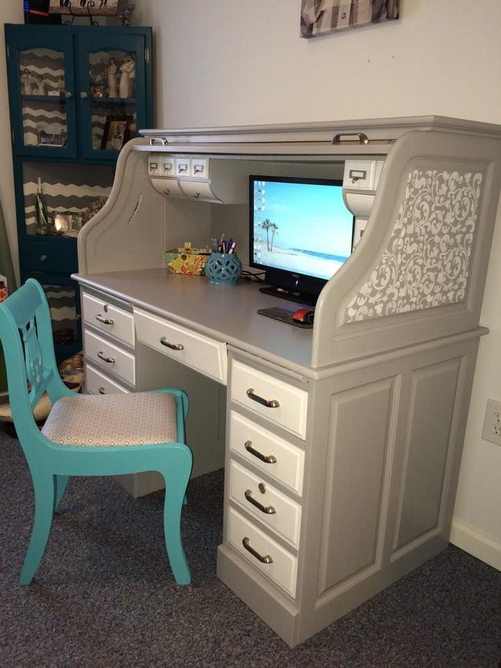 High Quality Roll Top Desk Makeover By Jessica, Featured In The Thinking Closetu0027s Fall  2014 Reader Showcase. Nice Ideas
