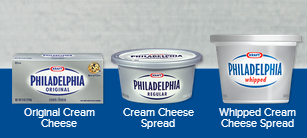 Save $0.50 off any TWO (2) PHILADELPHIA Cream Cheese! I LOVE LOVE LOVE Cream Cheese! :)