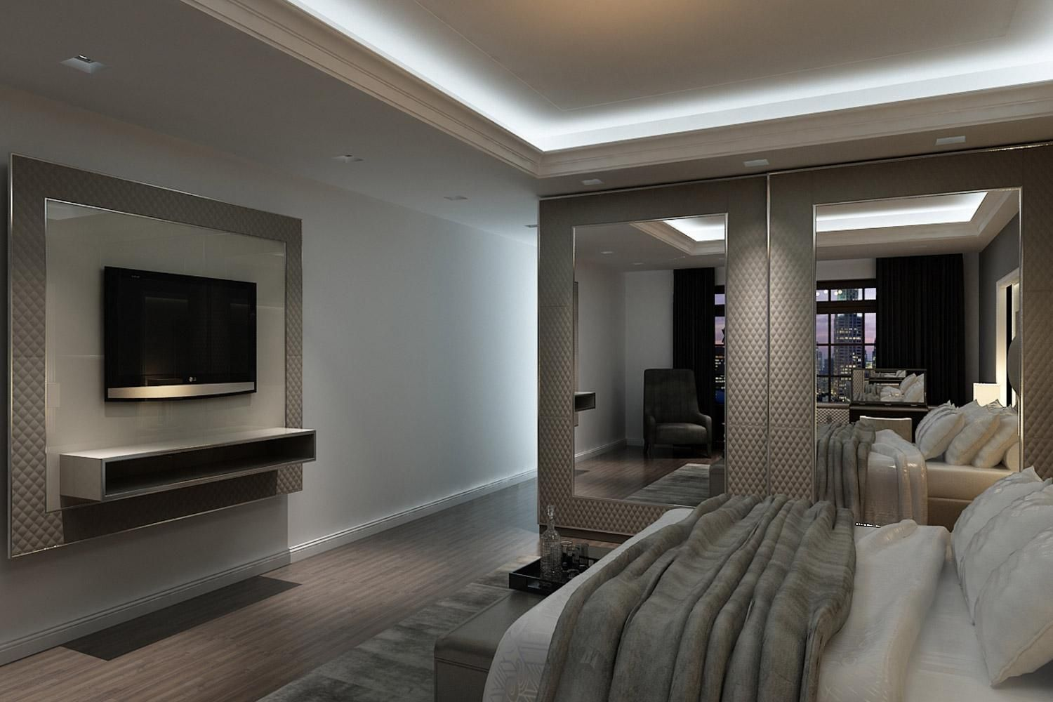Luxury Apartment In Beijing Sophisticated Design And Classic  # Rugiano Muebles