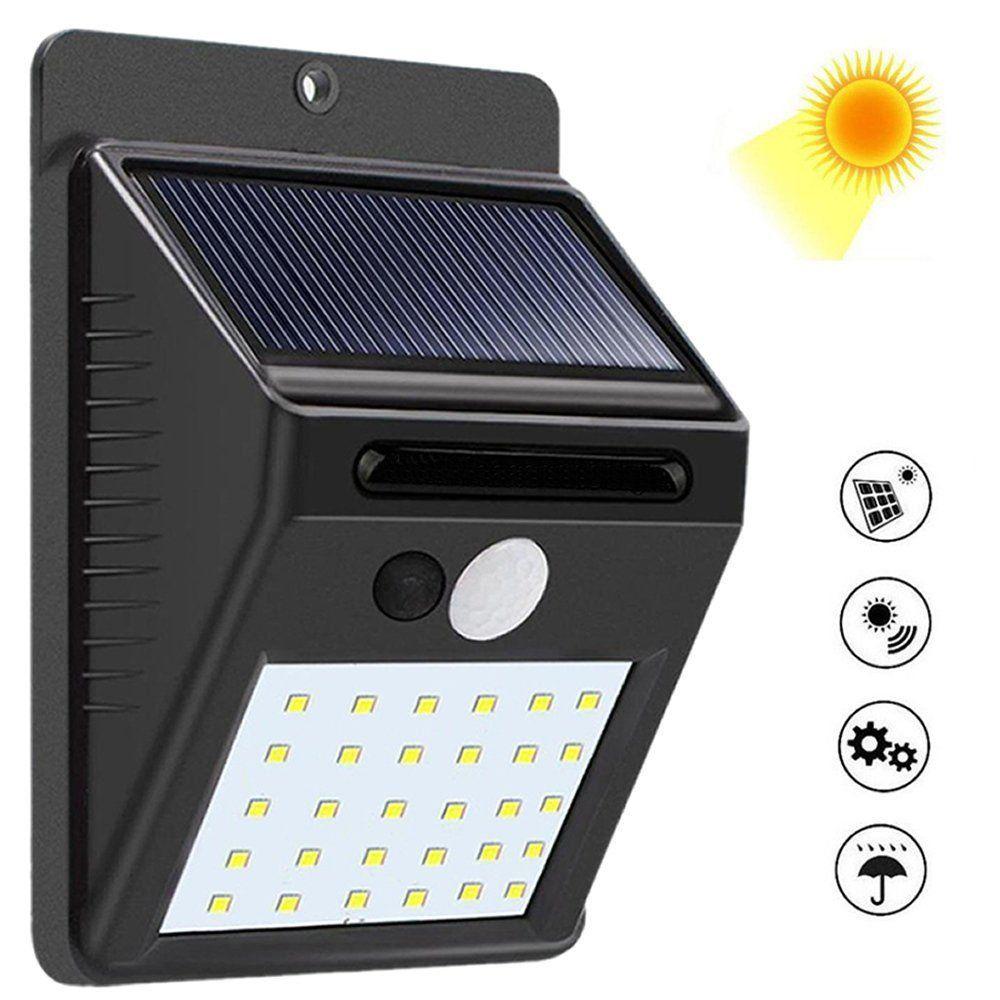 a59783ff627 Luminária Solar Parede 30 Leds c  Sensor Movimento CBRN08810 é uma luminária  externa de parede