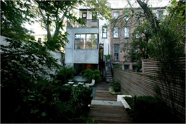 House · Rethinking A Brownstones Backyard   The New York Times Home U0026 Garden  ...