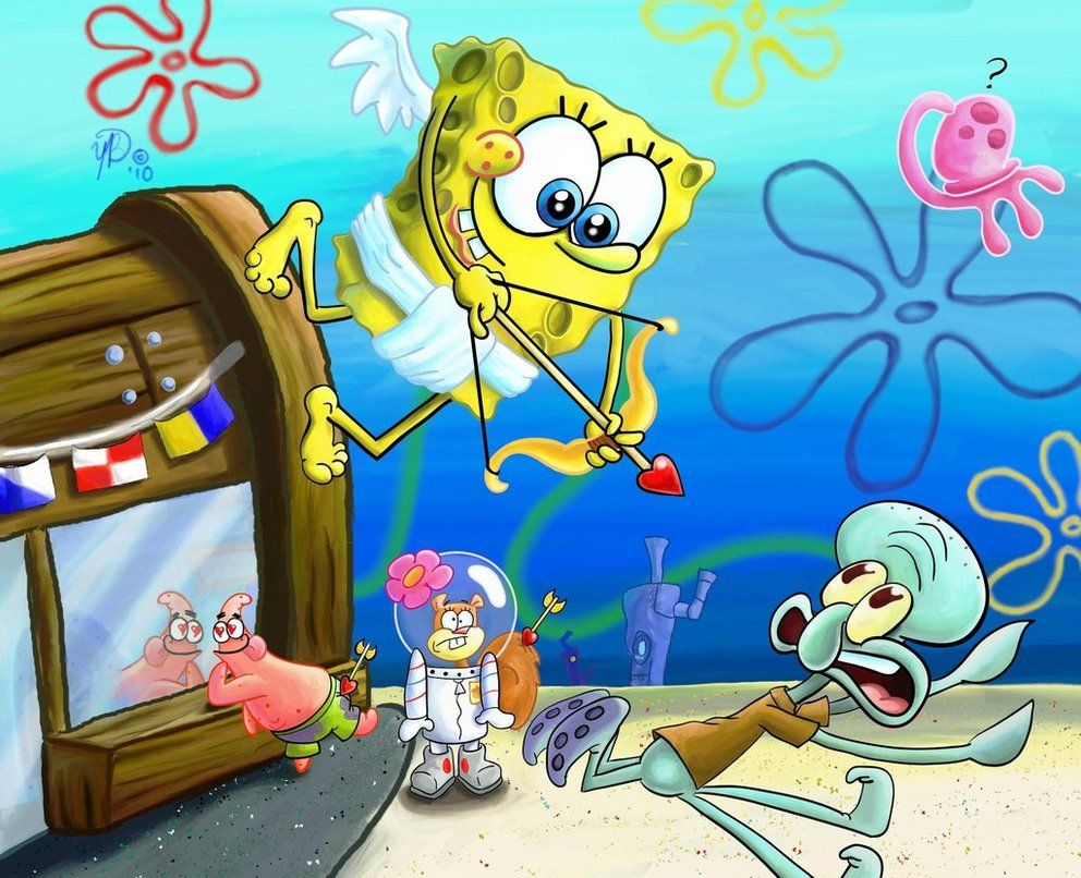 spongebob calendar february by yazzob spongebob squarepants
