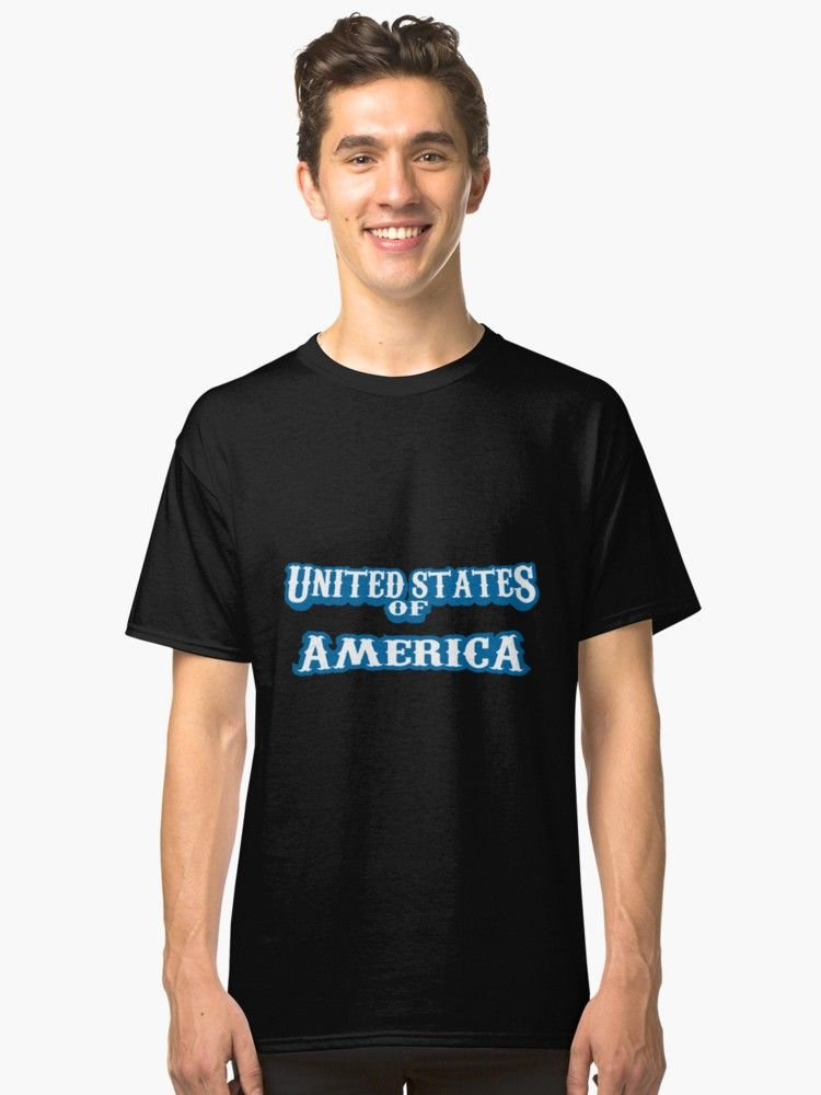 74dc32205 Buy 'United States of America, USA' by sabahi4u as a T-Shirt, Classic  T-Shirt, Tri-blend T-Shirt, Lightweight Hoodie, Women's Fitted Scoop T-Shirt,  ...