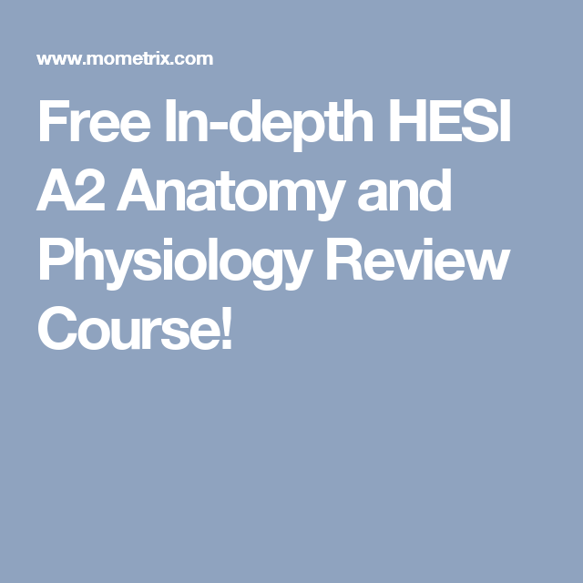 Free In Depth Hesi A2 Anatomy And Physiology Review Course School