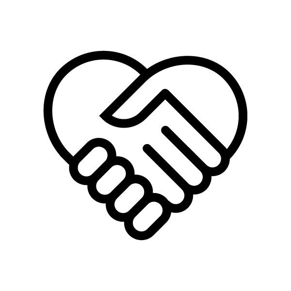 Two Stylized Hands Clasping Forming A Heart Copyright Free Symbol
