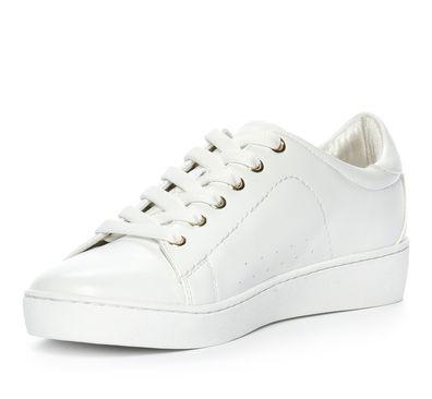 Din Sko Sneakers Sneakers Skinnimitation Vit