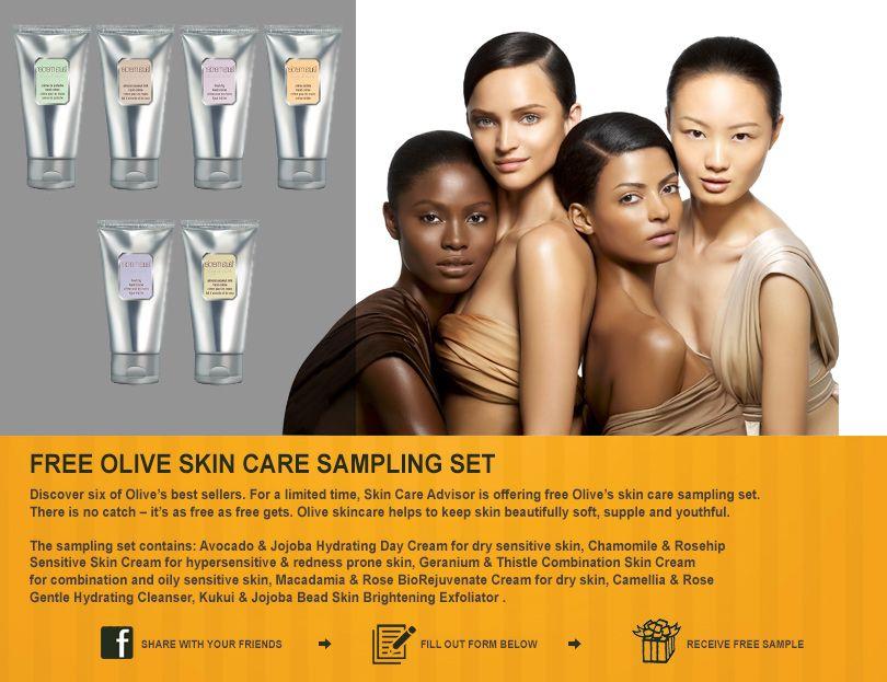 Free Olive Skin Care Samples Olive skin care, Skin care