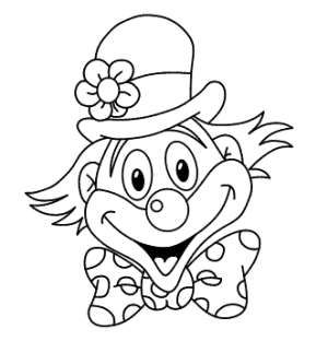 981 Jpg 300 312 Coloring Pages Clown Party Drawings